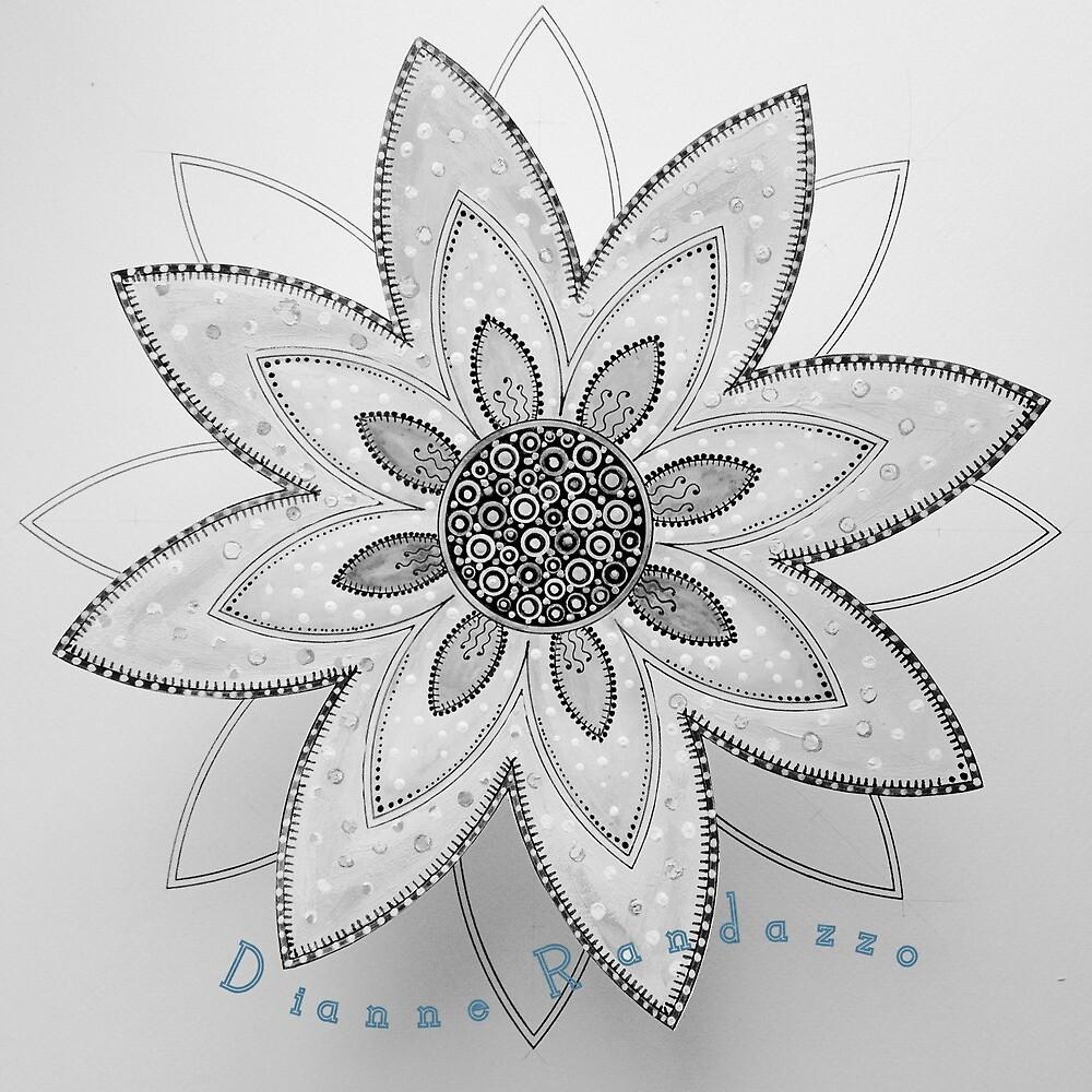 Daisy Mandala by cornflowercart