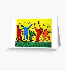 Keith Haring Beer Parody Greeting Card