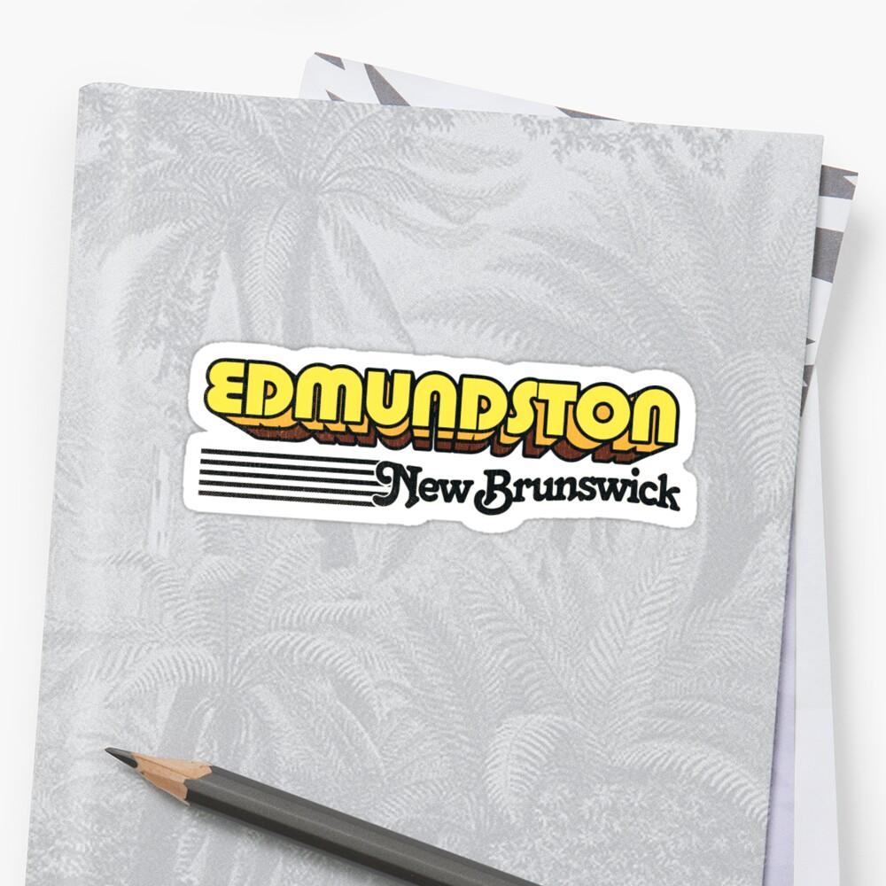 Edmundston, New Brunswick   Retro Stripes by retroready