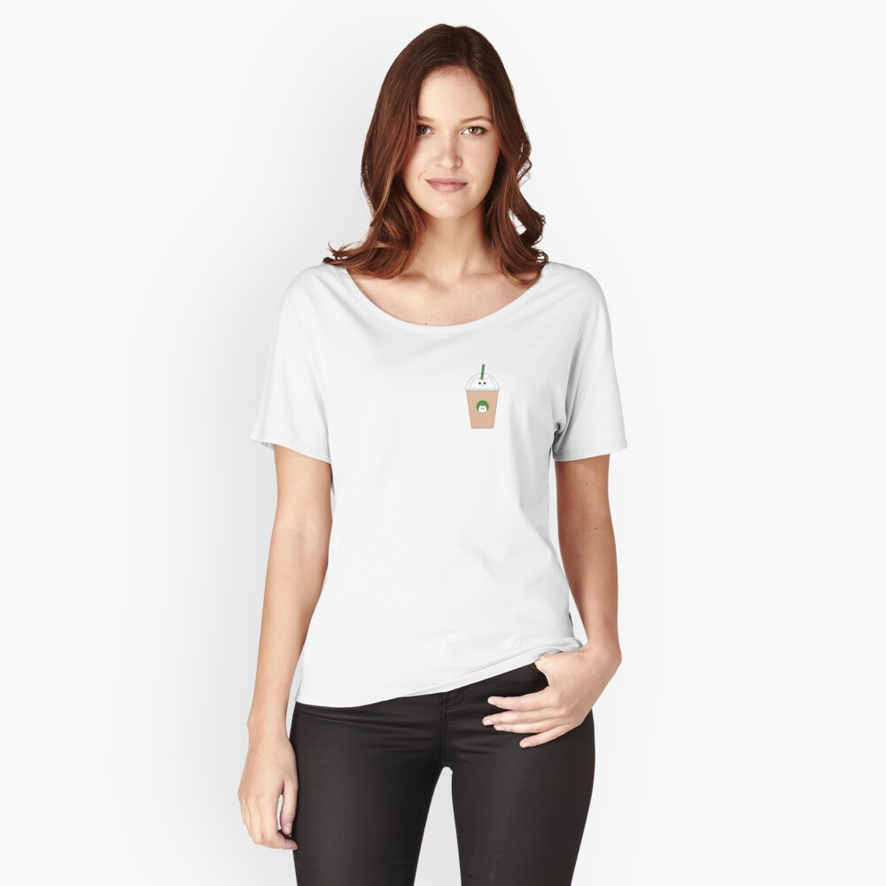 Catbucks Catuccino Women's Relaxed Fit T-Shirt Front