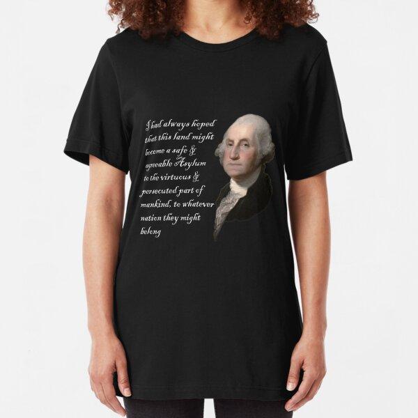 George Washington Quote On Shithole Countries Slim Fit T-Shirt