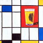 Piet Mondrian's Pint by Scott Clendaniel