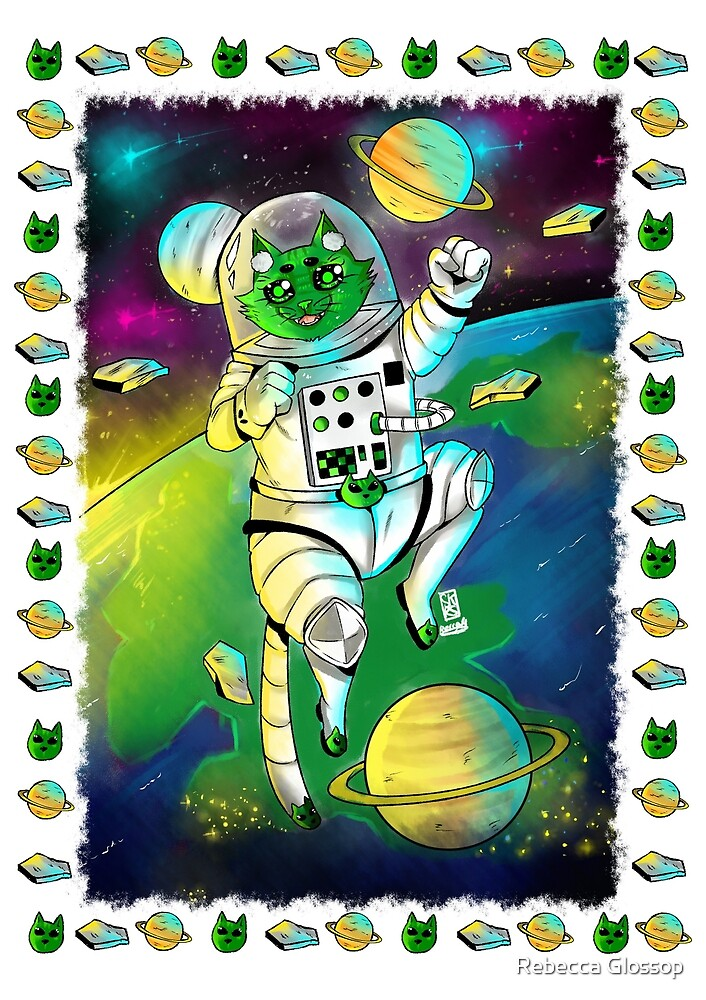 Alien Space cat by SkarletRoseArt