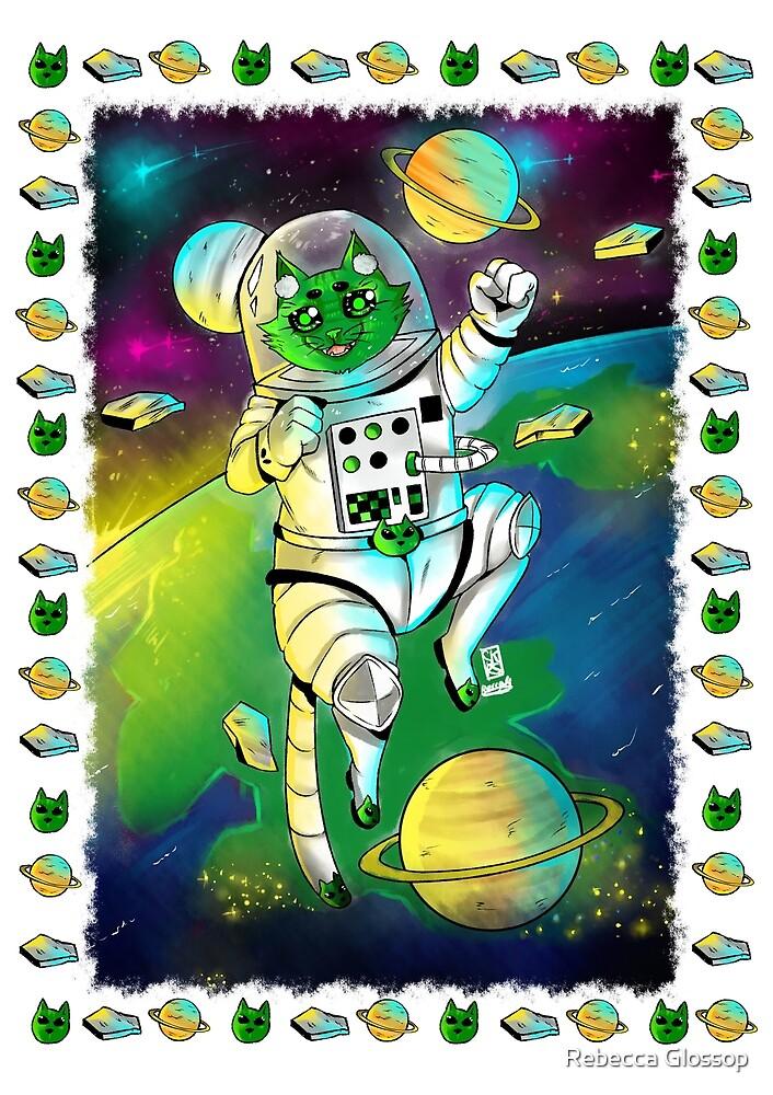 Alien Space cat by Rebecca Glossop