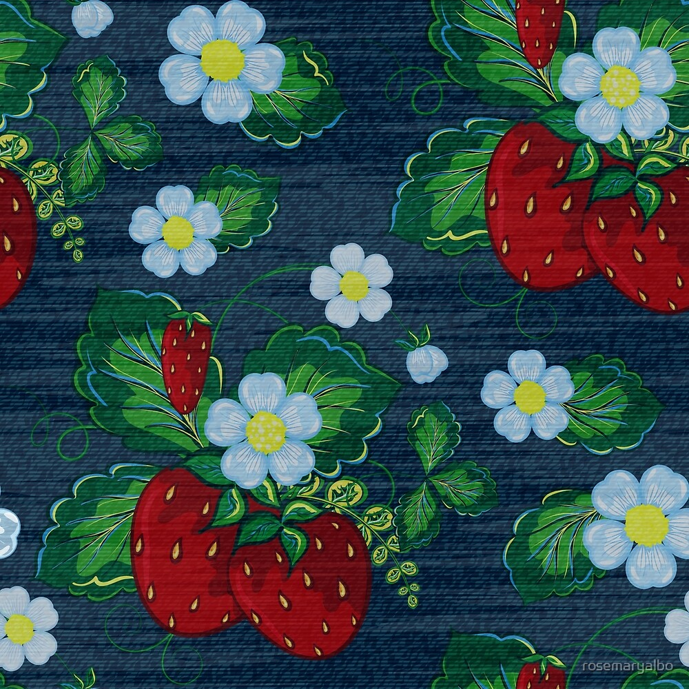 Sweet Strawberry Patch - Weathered  by rosemaryalbo
