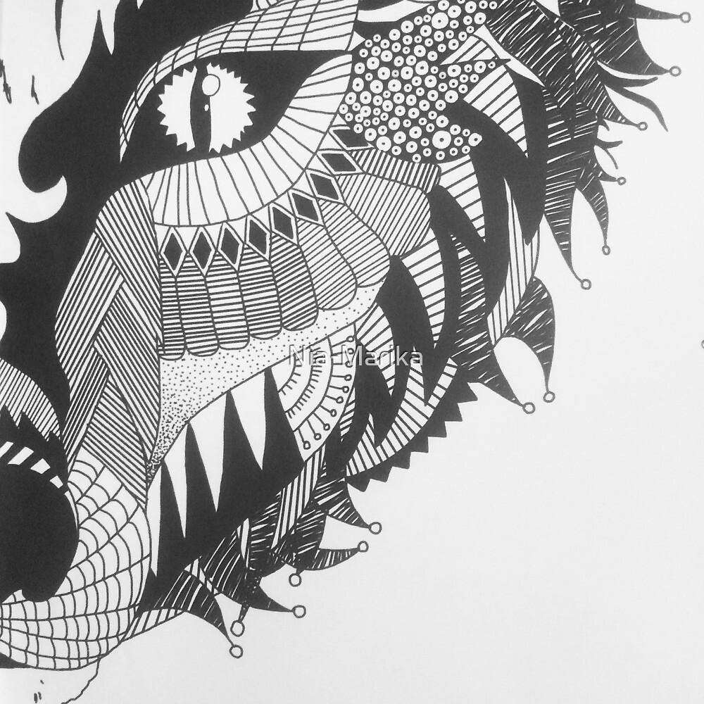 Abstract Fox by Nia-Marika