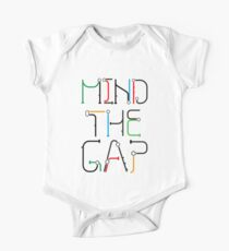 Mind the Gap - London Tube Inspired Font One Piece - Short Sleeve