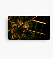 Golden fractal abstract geometric background Canvas Print