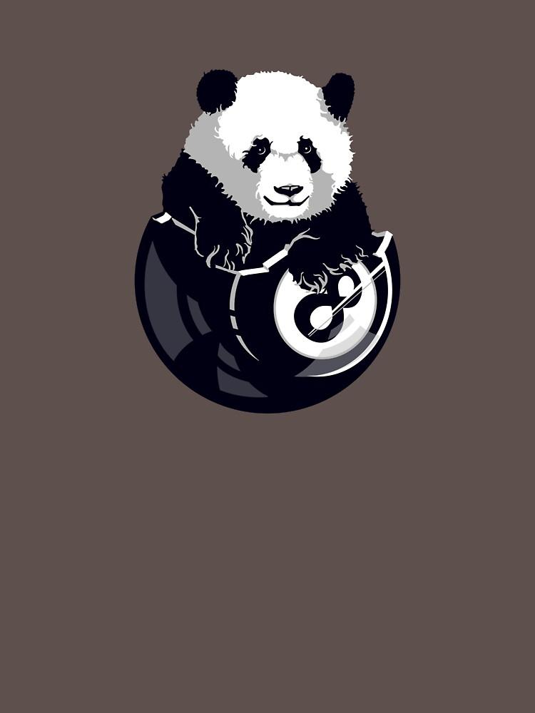 8-Ball Panda by rubyred