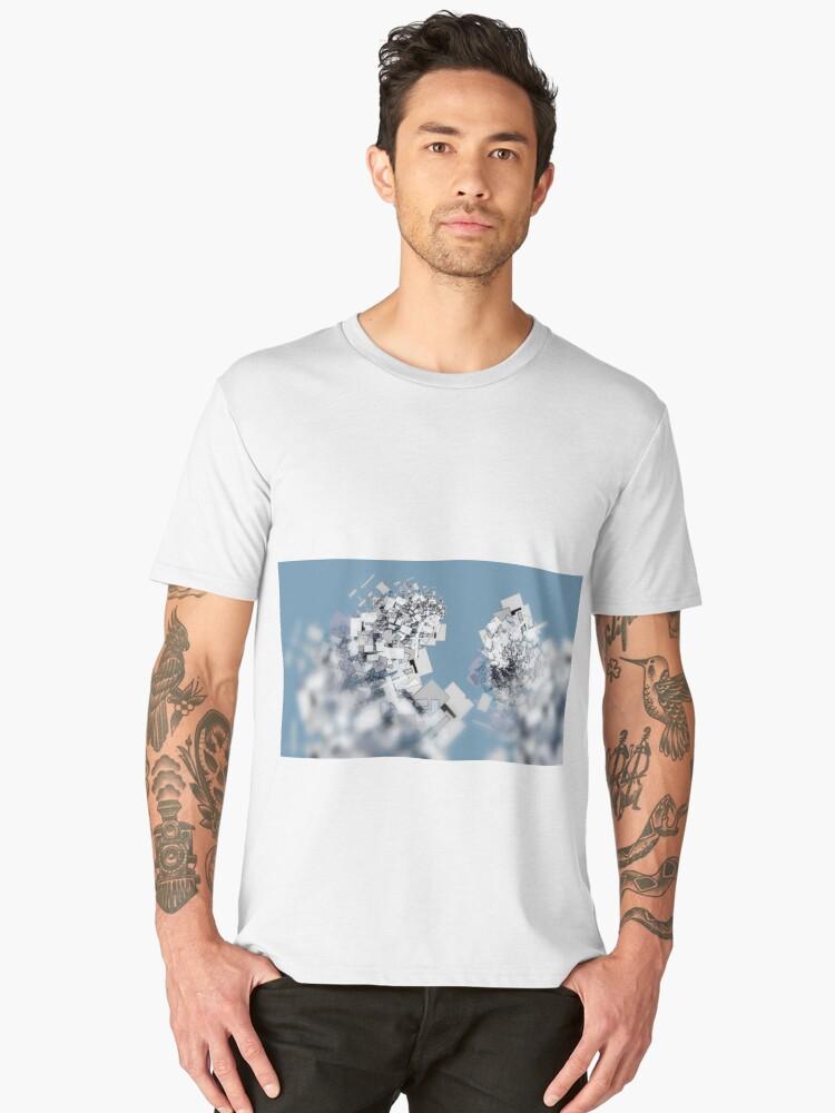 Fractal structure urban aerial view background Men's Premium T-Shirt Front