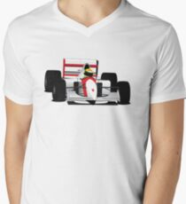 Formula 1 Senna McLaren Men's V-Neck T-Shirt
