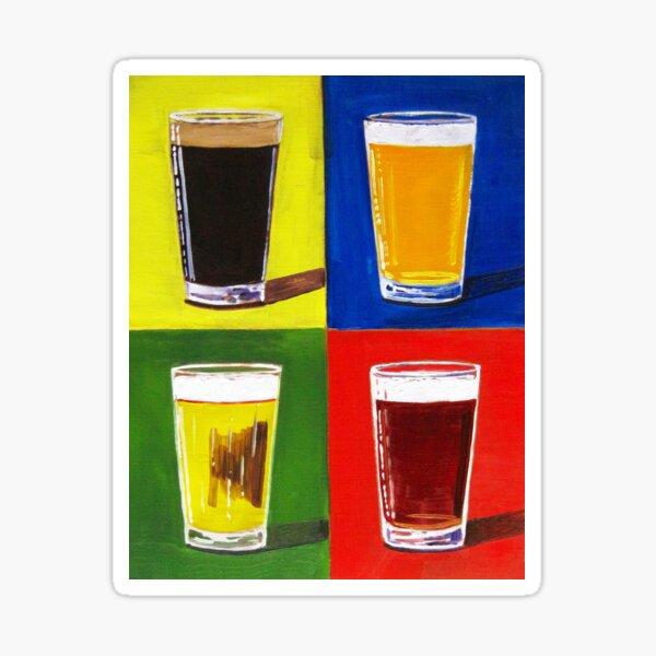 Andy Warhol Beer Pints Sticker