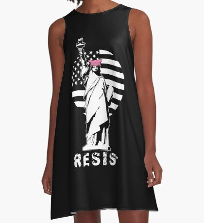 Lady Liberty Pink Protest A-Line Dress