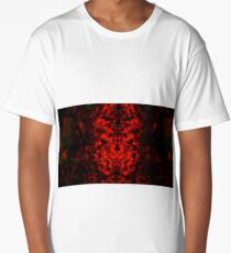 Abstract geometric crimson fractal pattern background Long T-Shirt