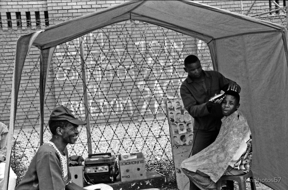 Soweto hairdresser by eleniphotos67