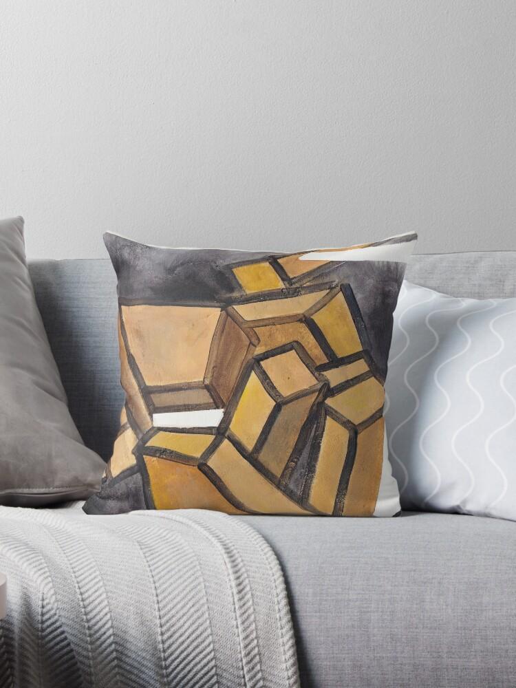 Yellow Grey Abstract  by Sukhpal Grewal