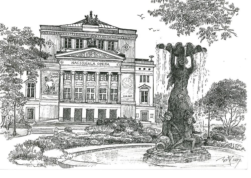 Latvia National Opera by ARCHIZHANG