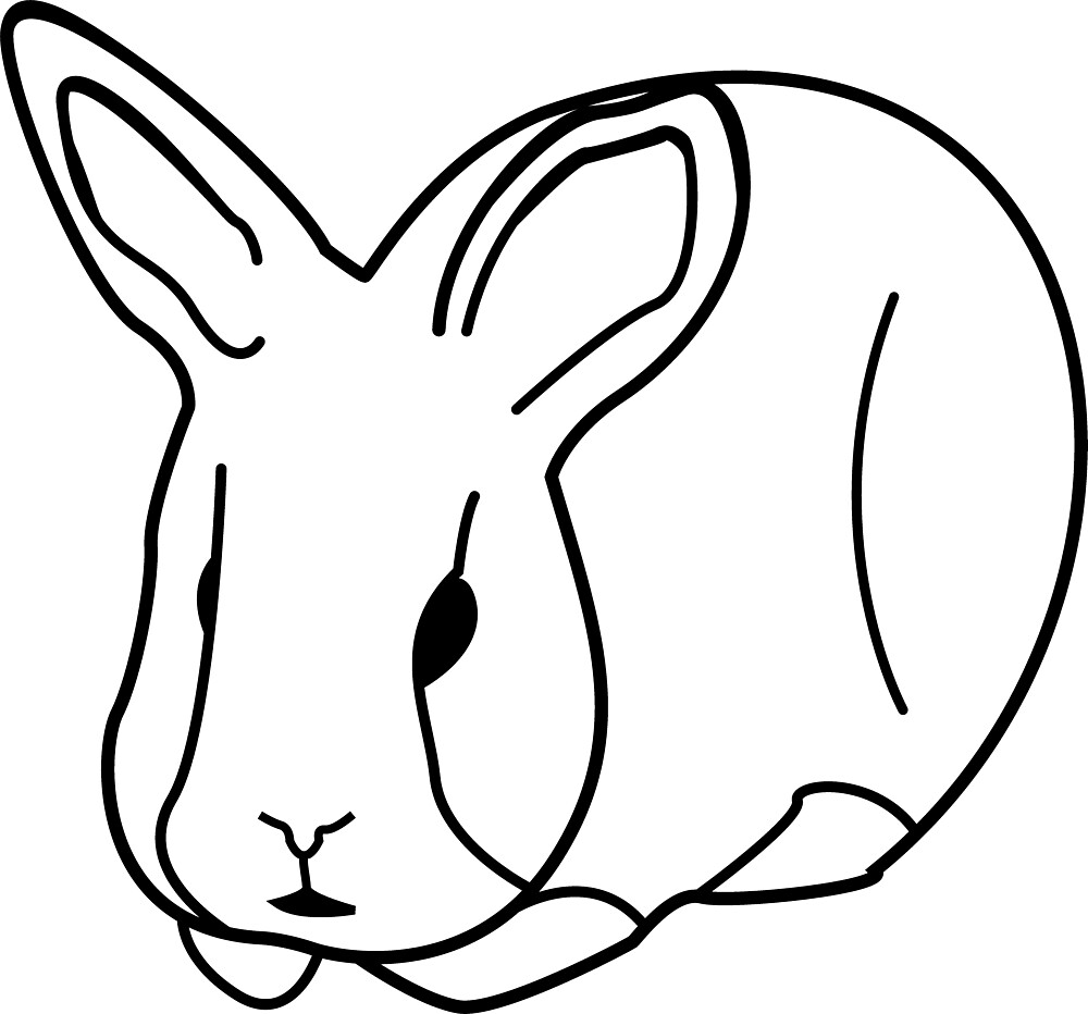 Mr. Rags Simple Bunny Outline by Darkend-Penguin