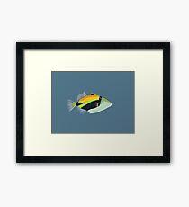 humuhumunukunukuapua'a Hawaiian reef fish Framed Print