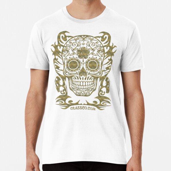 Skull Flower Totenkopf filigran Tribal Premium T-Shirt