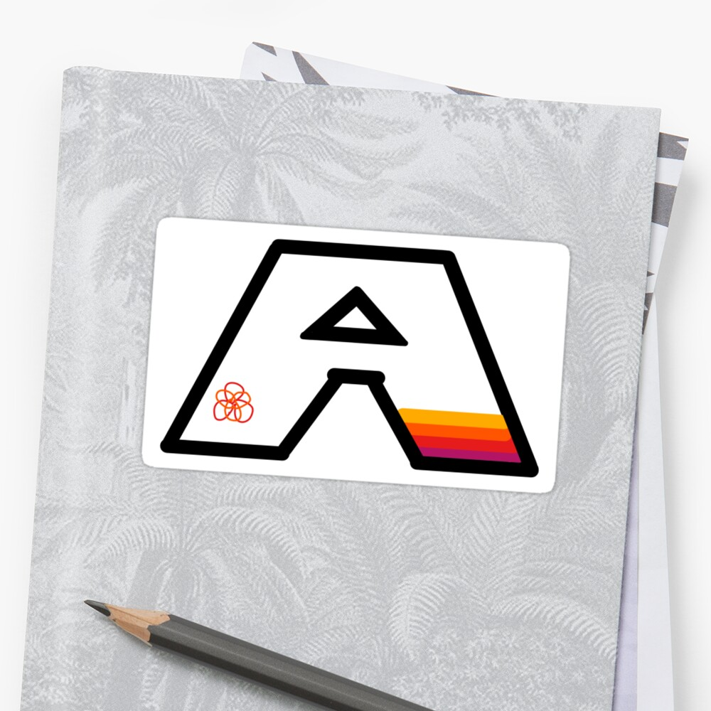 """The letter """"A"""" sticker- warm colors by jegelskercomedy"""