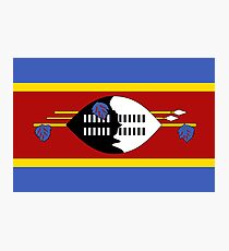 Flag of Swaziland Photographic Print