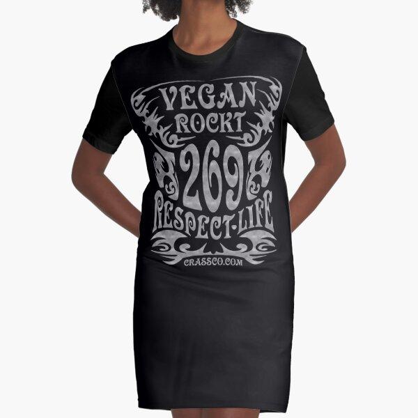 VEGAN ROCKT - veggie, vegetarian, meatless, life T-Shirt Kleid