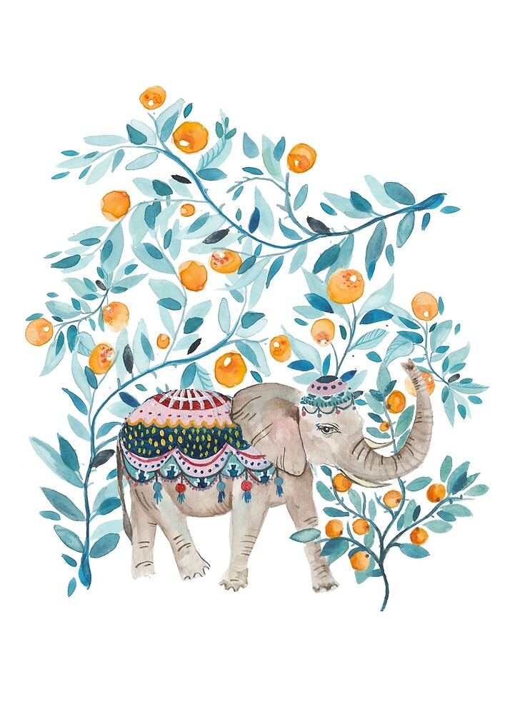 Moroccan Elephant by amberstextiles