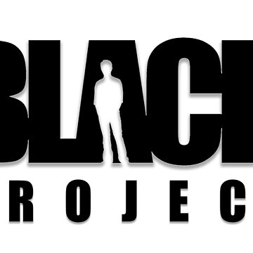 BLACK PROJECT LOGO (BLACK) by CrazyPencilComx