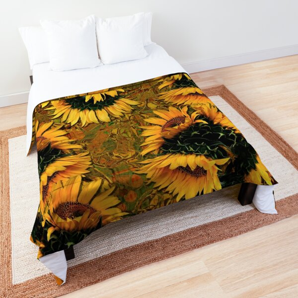Sunflowers and Mexican Tile Comforter