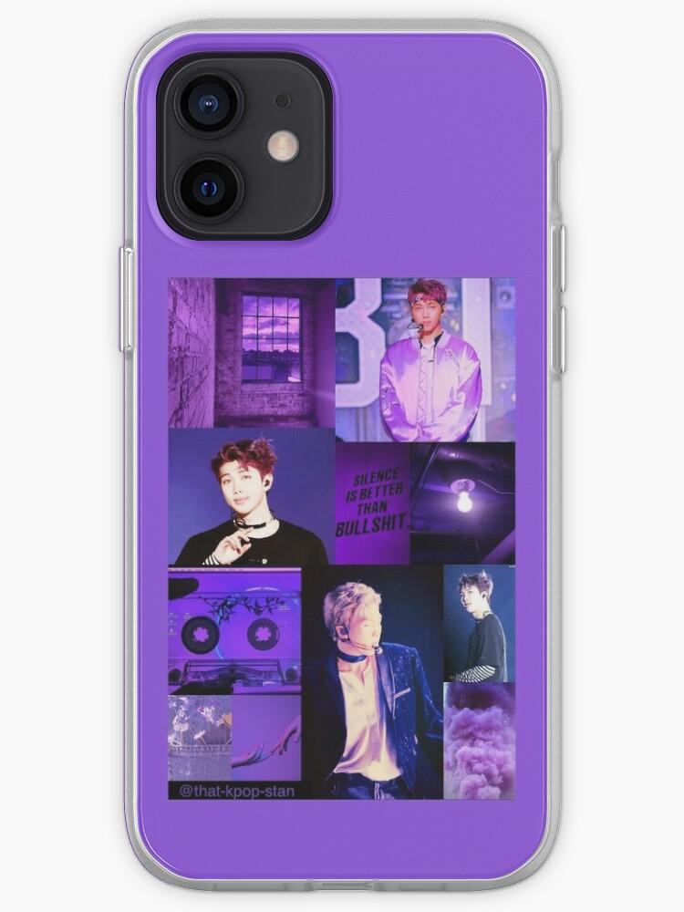 BTS RM Purple Esthétique Collage   Coque iPhone