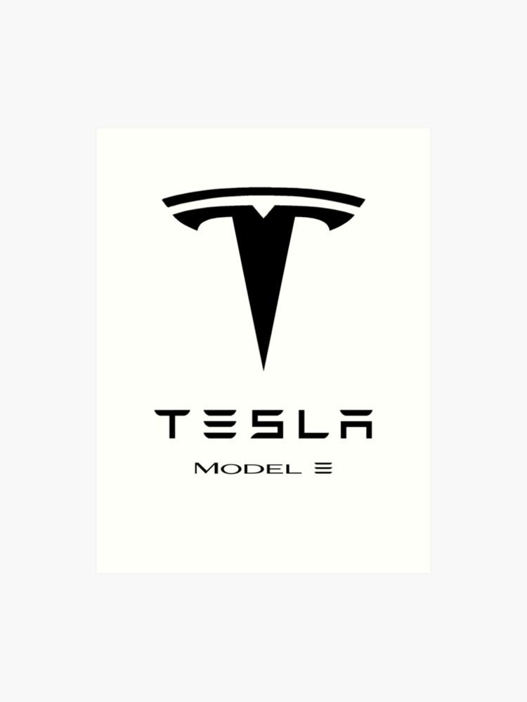 Tesla model 3 logo | Art Print