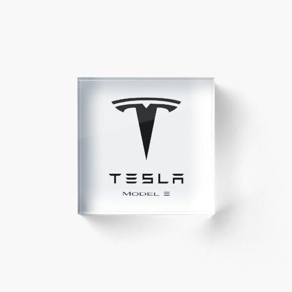 Tesla model 3 logo Acrylic Block