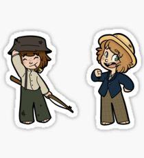 Tom and Huck Sticker