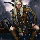 Fantasy Nordic Ranger Woman by niksebastian