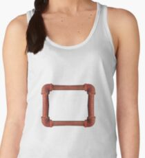Rusty iron pipes assembled in a rectangle Women's Tank Top