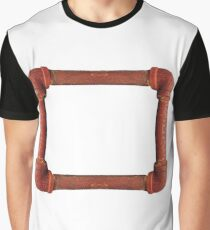 Rusty iron pipes assembled in a rectangle Graphic T-Shirt