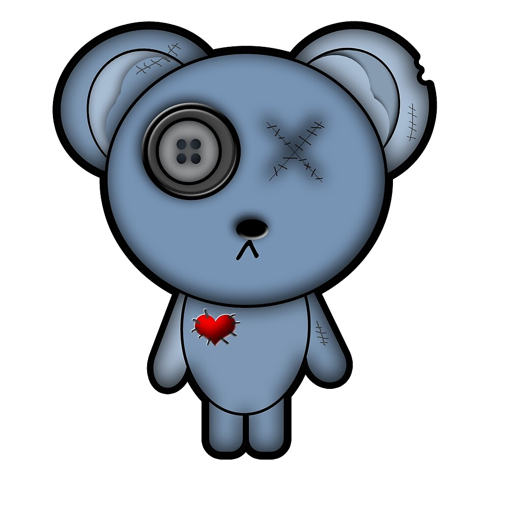 Evil Teddy Bear by Creepylilcutie