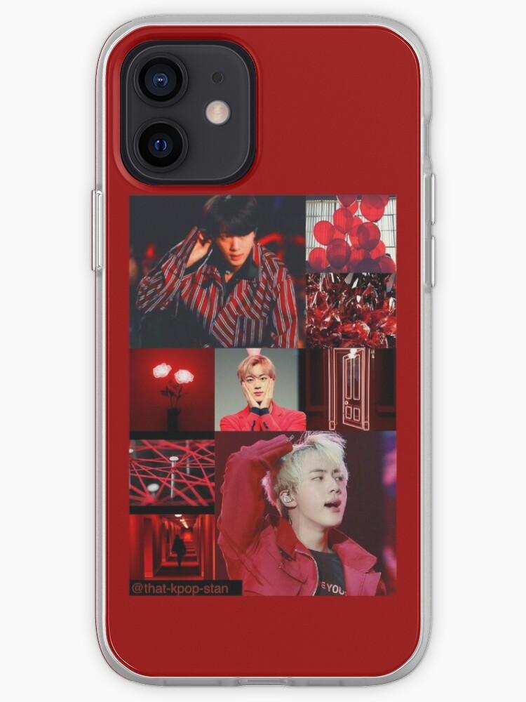 BTS Jin Rouge Esthétique Collage   Coque iPhone