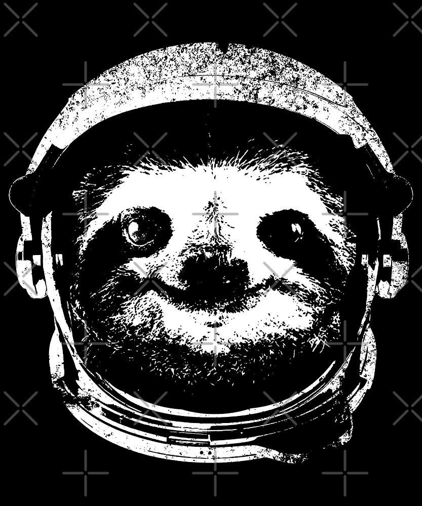 Space Sloth Astronaut by BOBSMITHHHHH