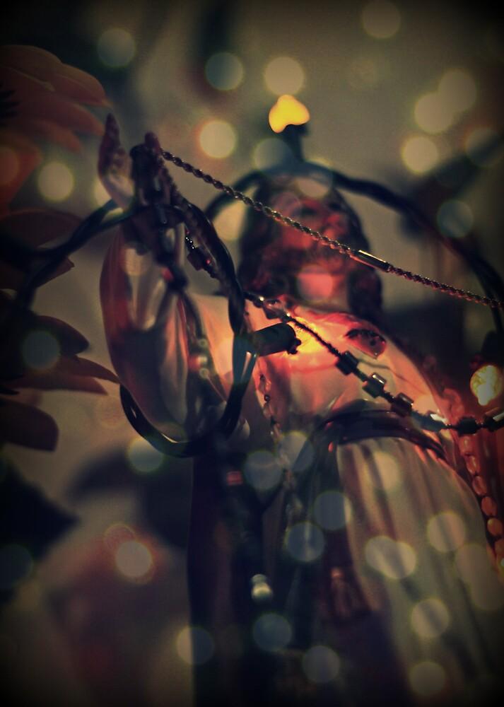 Jesus in lights by Jaime de la Cruz