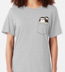 2 Pocket Sloths Slim Fit T-Shirt