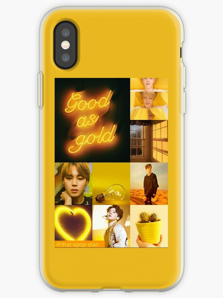 BTS Jimin Yellow Aesthetic Collage by that-kpop-stan