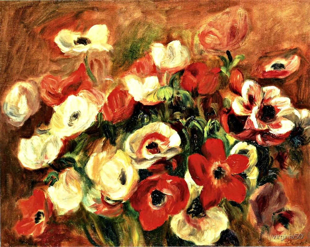 Renoir - Spray of Anemones by virginia50