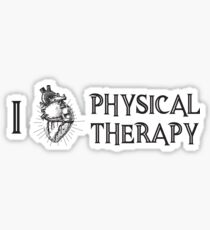 I Love Physical Therapy PT Design Sticker