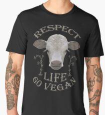 RESPECT LIFE - GO VEGAN Männer Premium T-Shirts