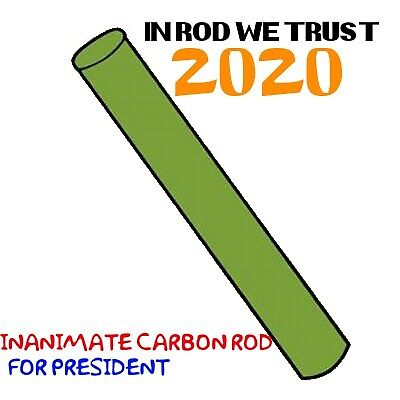 Inanimate Carbon Rod for President by JamesJemes