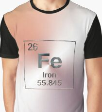 Periodic Table of Elements - Iron (Fe) Graphic T-Shirt