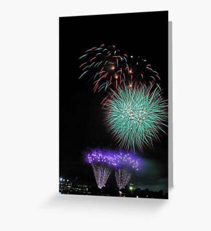 Perth New Years Eve Fireworks  Greeting Card