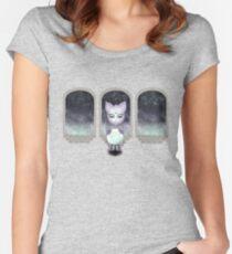 Mystic Miku | Crystal Ball & Zodiac | Light Purple Fitted Scoop T-Shirt